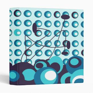 ice blue retro dots binder
