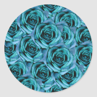 Ice Blue Roses Sticker
