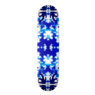 Ice Blue Snowboarder Ice Sky Tile Skateboard