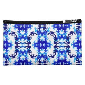 Ice Blue Snowboarder Sky Tile Snowboarding Sport Cosmetic Bag