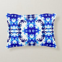 Ice Blue Snowboarder Sky Tile Snowboarding Sport Decorative Pillow