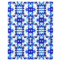 Ice Blue Snowboarder Sky Tile Snowboarding Sport Fleece Blanket