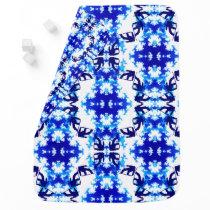 Ice Blue Snowboarder Sky Tile Snowboarding Sport Receiving Blanket