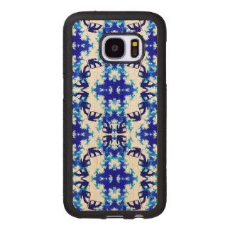 Ice Blue Snowboarder Sky Tile Snowboarding Sport Wood Samsung Galaxy S7 Case