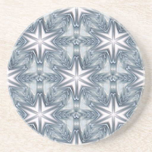 Ice Blue Snowflake Coaster