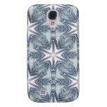 Ice Blue Snowflake Galaxy S4 Case