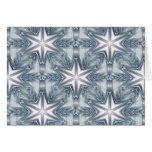 Ice Blue Snowflake Greeting Card