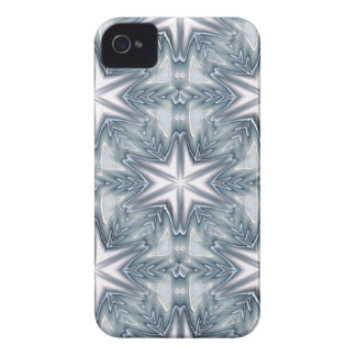 Ice Blue Snowflake iPhone 4 Case-Mate Case