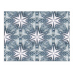 Ice Blue Snowflake Postcard