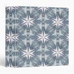 Ice Blue Snowflake Vinyl Binders