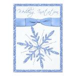 Ice Blue Snowflake Wedding Invitation