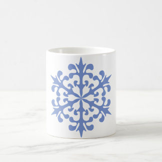 Ice Blue Snowflake Winter Snow Mugs