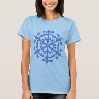Ice Blue Snowflake Winter Snow T-Shirt