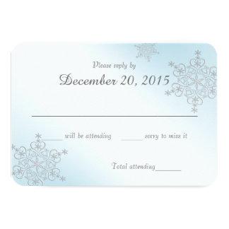 Ice Blue Snowflakes Response Card
