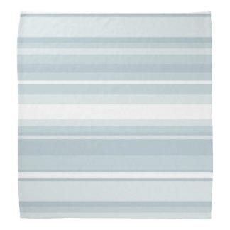 Ice blue stripes bandana