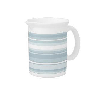 Ice blue stripes beverage pitcher