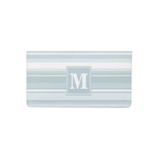 Ice blue stripes checkbook cover