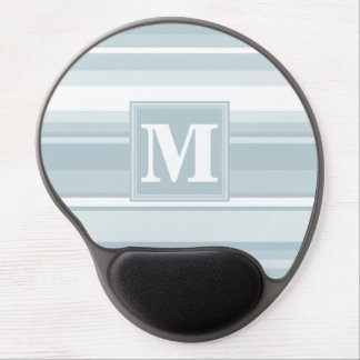 Ice blue stripes gel mouse pad