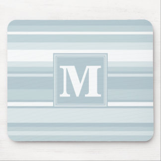 Ice blue stripes mouse pad