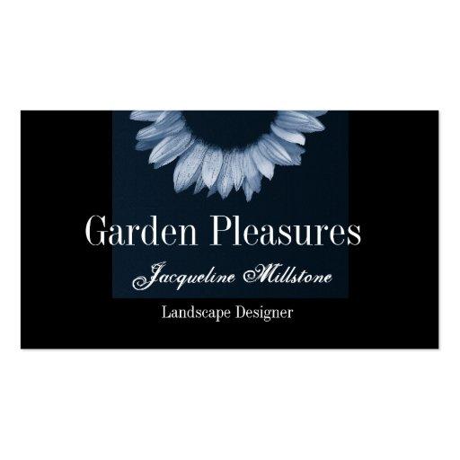 Ice Blue Sunflower Business Cards