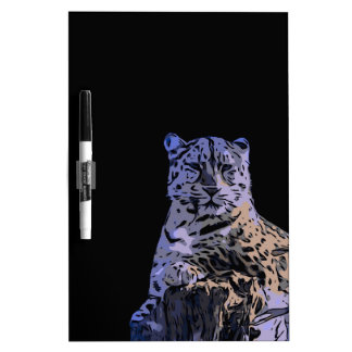 Ice Blue Tiger Abstract Dry-Erase Board