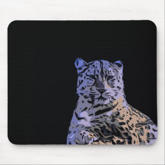 Ice Blue Tiger Abstract Mouse Pad