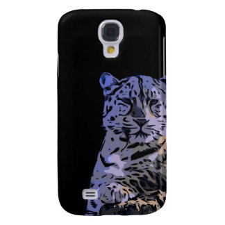 Ice Blue Tiger Abstract Samsung Galaxy S4 Cover