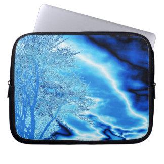 Ice Blue Tree Laptop Tree Laptop Sleeves