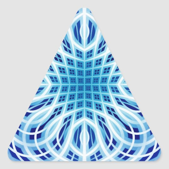 Ice Blue weave Triangle Sticker