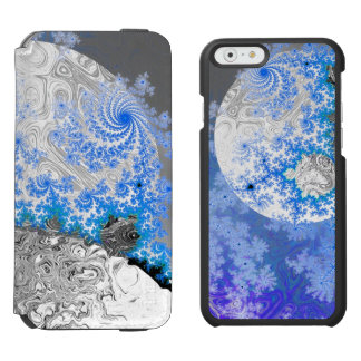 Ice Blue White Fractal Galaxy Universe Bright Star iPhone 6/6s Wallet Case