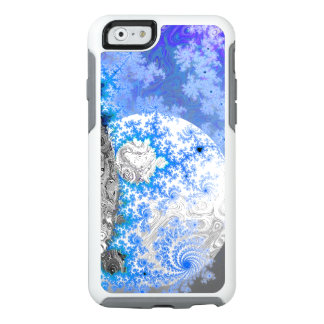 Ice Blue White Fractal Galaxy Universe Bright Star OtterBox iPhone 6/6s Case