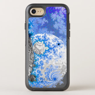 Ice Blue White Fractal Galaxy Universe Bright Star OtterBox Symmetry iPhone 7 Case