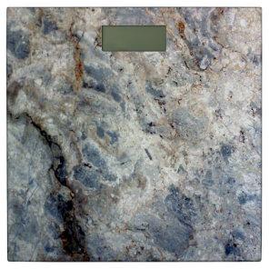 Ice blue white marble stone finish bathroom scale