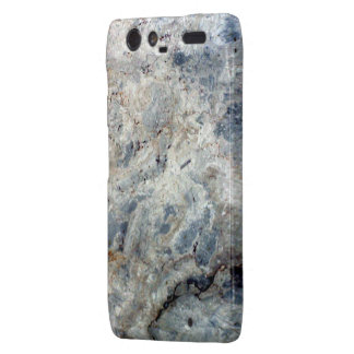 Ice blue white marble stone finish droid RAZR covers