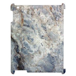 Ice blue white marble stone finish case for the iPad 2 3 4