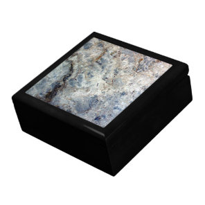 Ice blue white marble stone finish gift box