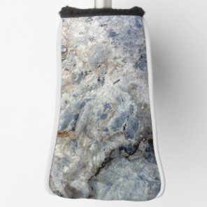 Ice blue white marble stone finish golf head cover