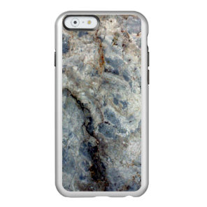 Ice blue white marble stone finish incipio feather shine iPhone 6 case