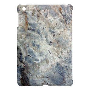 Ice blue white marble stone finish iPad mini case
