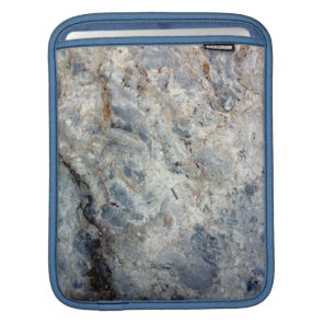 Ice blue white marble stone finish iPad sleeve
