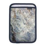 Ice blue white marble stone finish iPad mini sleeve