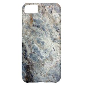 Ice blue white marble stone finish iPhone 5C case