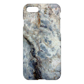 Ice Blue White Marble Stone Finish iPhone 8/7 Case