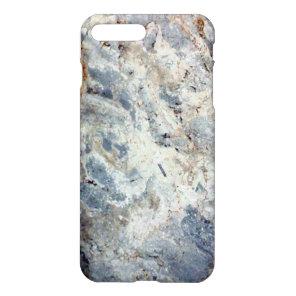 Ice blue white marble stone finish iPhone 8 plus/7 plus case