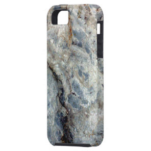 Ice blue white marble stone finish iPhone SE/5/5s case