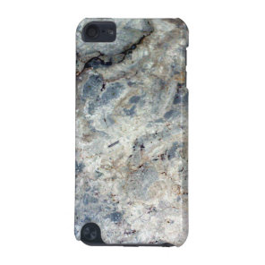 Ice blue white marble stone finish iPod touch (5th generation) case