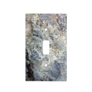 Ice blue white marble stone finish light switch cover