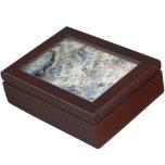 Ice blue white marble stone finish memory boxes