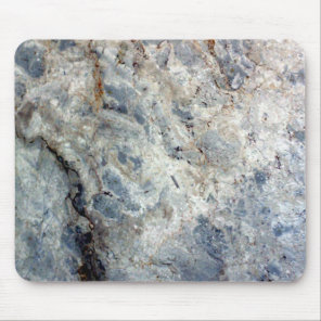 Ice blue white marble stone finish mouse pad