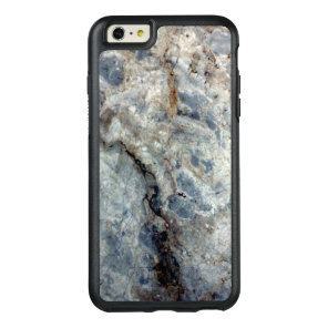 Ice blue white marble stone finish OtterBox iPhone 6/6s plus case